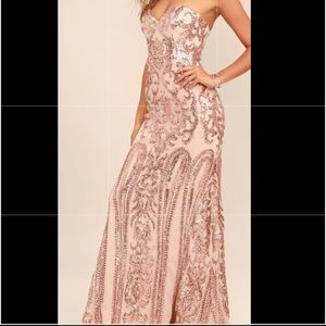 Beautiful rose gold dress